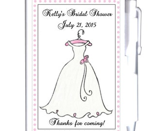 24 Wedding Shower Notebook Favors