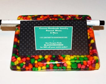 Business Card and Pen Holder - Glitter Office Supplies - Nerds -