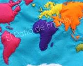 Plantillas continentes + tarjetas formas nombres oceanos y continentes + Tangram -  PDF Imprimible / DIY mapamundi