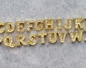 Gold A-Z Alphabet Floating Locket Charm- You Choose Letter