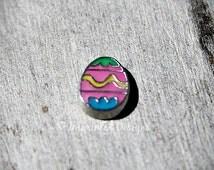 Easter Egg Floating Charm / Floating Locket Charm / Locket Charm
