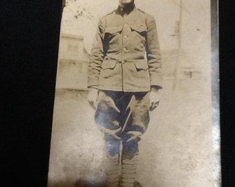 Photo Postcard of World War I Soldier