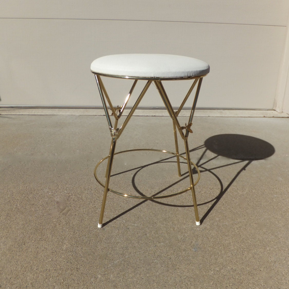 Vintage Vanity Stool Hollywood Regencyvanity Chair Gold