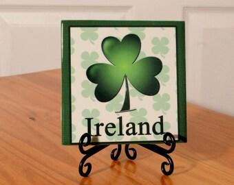 Ireland/Irish decorative tile with stand