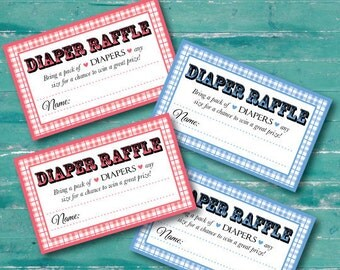 "diaper raffle tickets to coordinate with ""bun in the oven & burgers on the grill"" shower invite, digital, printable file"