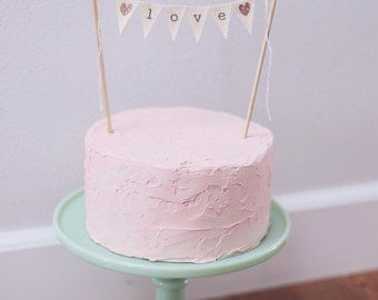 LOVE Wedding Cake Topper Banner