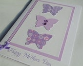 Purple butterflies Happy Mothers Day card