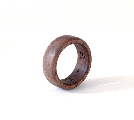 Assez Bague en bois noyer anneau en bois les femmes de mariage AJ74