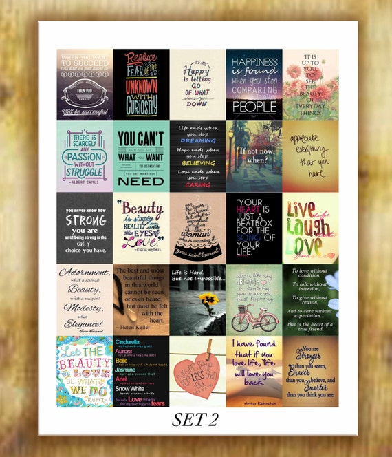 inspirational quotes stickers set 2 for erin condren life