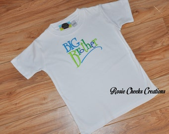 Big Brother Shirt T-Shirt - Bright Colors - Pregnancy Announcement or Gender Reveal
