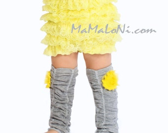 PICK COLOR GRAY flower leg warmers, girls leg warmers, baby leg warmers, girl's leg warmers, baby girls, baby leggings, boot cuffs, adult