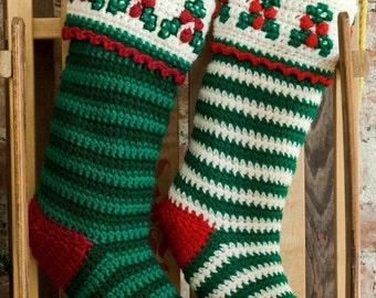 Crochet Pattern - Christmas Stocking