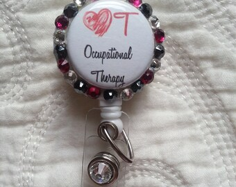 Occupational Therapy, OT ID Retractable Badge Holder
