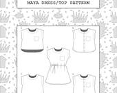 PDF Maya dress and top sewing pattern