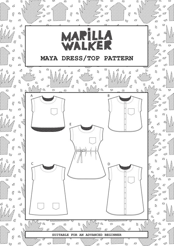 PDF Maya dress and top sewing pattern