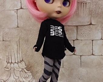 blythe clothes, leggings zebra