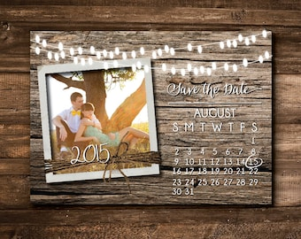 Save the Date Wedding Calendar - PRINTABLE FILE