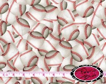 BASEBALLS Fabric by the Yard Half Yard Fat Quarter Base Ball Fabric Sports Fabric Quilting Apparel 100% Cotton Fabric t6-32