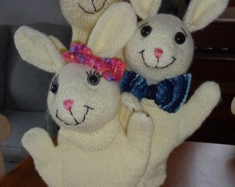 Cute Cuddly Rabbit Puppet.  Brings smile to the face of everyone she meets!