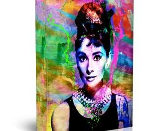 Audrey Hepburn Art, Original Painting Canvas Art Print