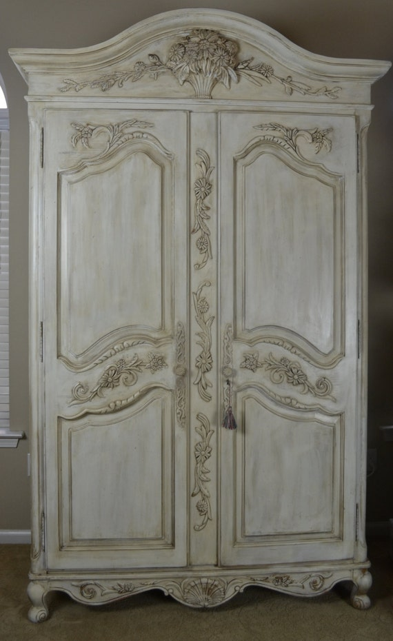sold shabby chic french armoire by theyardleycottage on etsy. Black Bedroom Furniture Sets. Home Design Ideas