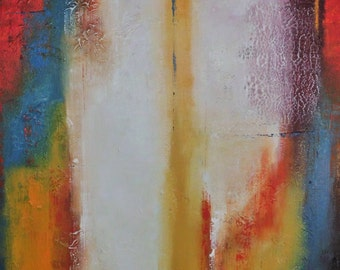 Complimentary Contrasts IV  3' x 4'  Large Acrylic Colorful Abstract Painting