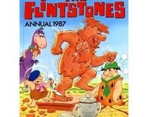 Hanna Barberas The Flintstones Vintage Annual 1987