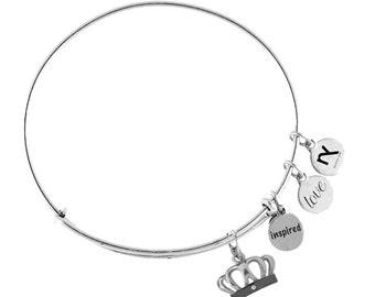 Royal Crown Inspired Love Bangle Bracelet