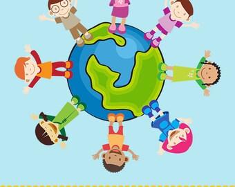 Children of the World Clip Art