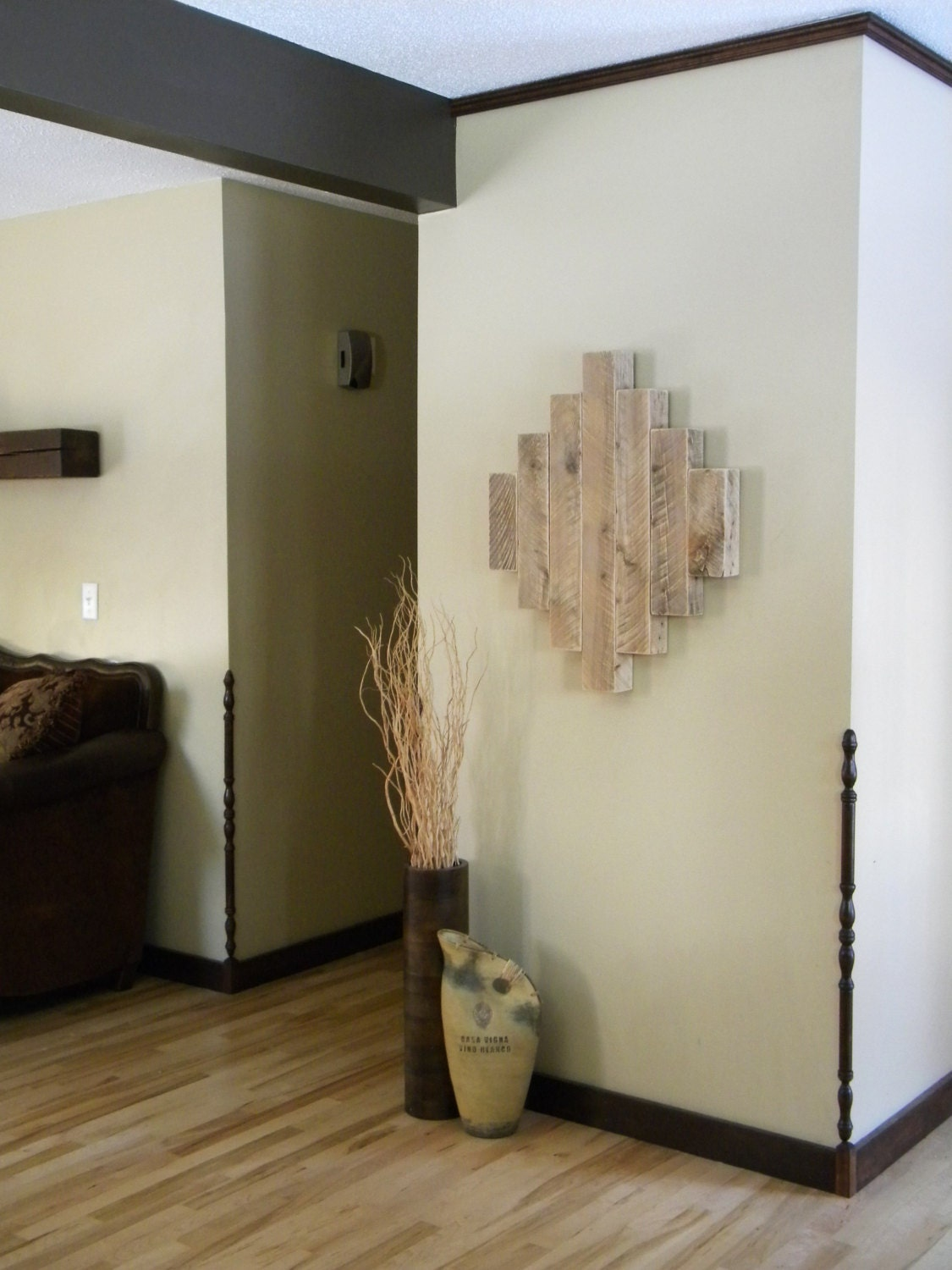Rustic Contemporary Wall Decor : Reclaimed wood wall art modern rustic home decor unique