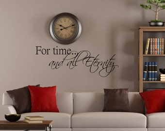 For time and all Eternity, religious quote, marriage quote, lds quote, home decor, inspirational quote, mormon quote, wall decor, family