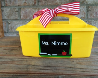 Personalized School Supplies Caddy