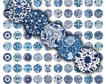 Chinese Ornament Digital Collage Sheet Round 20mm 18mm 16mm 12mm 10mm 1/2 inch circle for jewelry, bottlecap, pendant, earrings, cufflinks