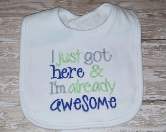 I'm Awesome Embroidery Design  4x4 -INSTANT DOWNLOAD-