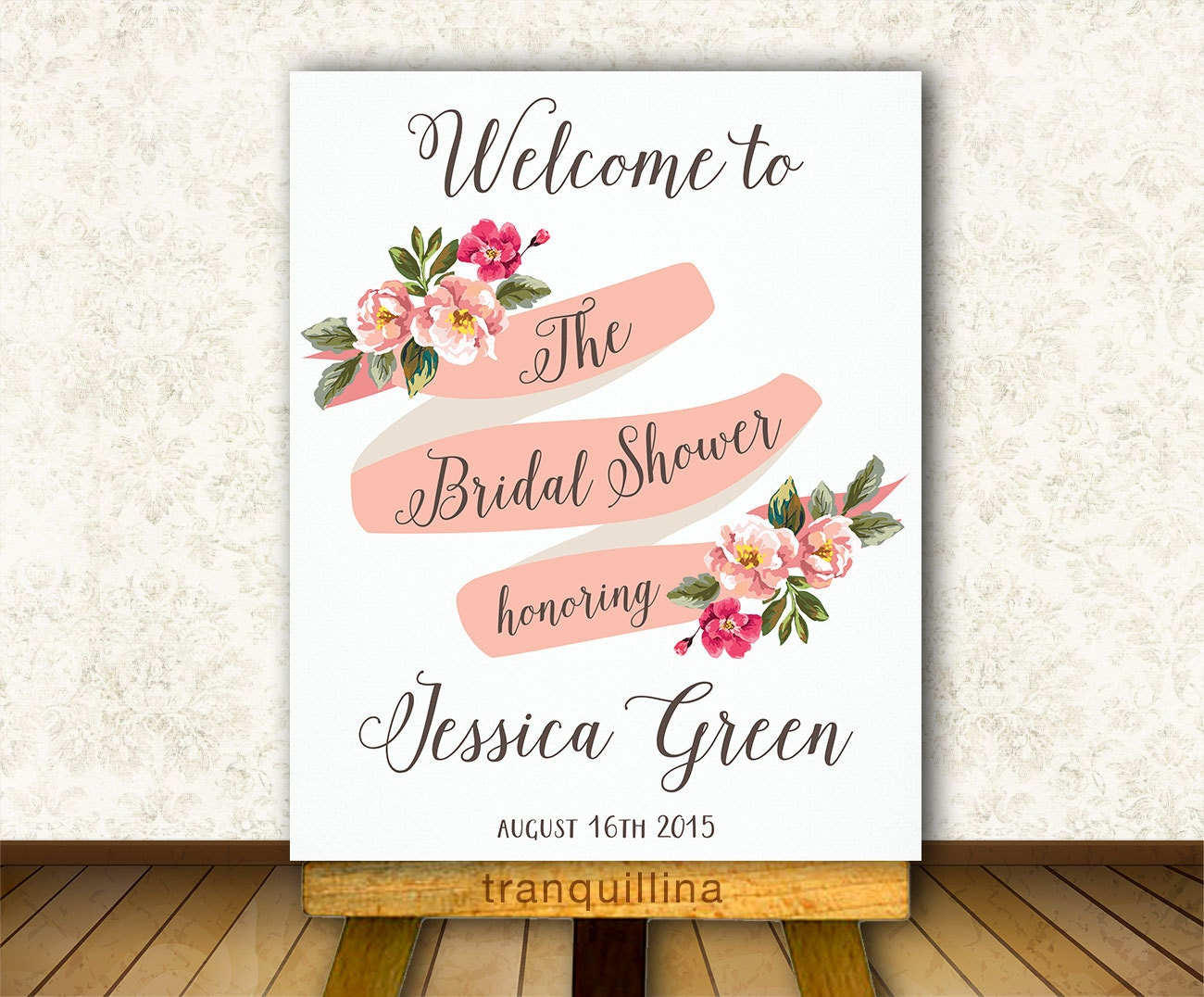 Comprehensive image within printable bridal shower signs