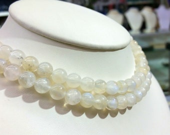 "Moonstone Round Beads Smooth A-Grade 8mm, 10mm & 12mm , 16""L"