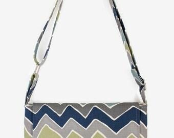 Cross-Body Messenger Bag--Small/Chevrons/Gift For Women/Gift For Teens