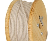 Fabric Cable Electric Textile Cable wire for Lighting Round 2x0.75 Natural Hemp Wooden Reel