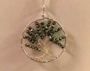 Tree of Life - Metallic Green Necklace