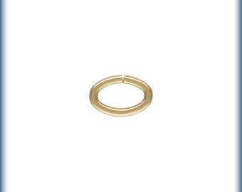 14K Gold Filled Oval Jump Rings, Gold Open Jump Ring, 20GA Open Jump Ring, 50 PCS,  Wholesale Jump Rings, Gold Filled Findings, 5.5MM