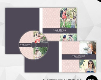 Cd/Dvd Single Case & Disc Label Template for Photographer - INSTANT DOWNLOAD - CD003