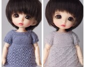 High Park Play Dress Knitting Patterns for Pukifee Dolls