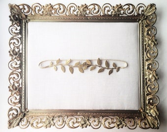 Laurel Leaf Garter, greek goddess garter, modern garter, vine garter, designer garter, gold garter, wedding garter, toss garter #500