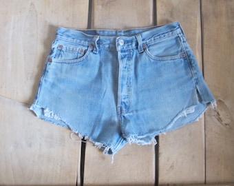 Vintage Levi's 501 denim shorts cut off