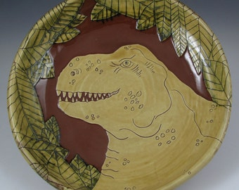 T rex serving bowl
