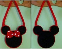 Free Crochet Mickey Mouse Purse Pattern : Popular items for minnie mouse purse on Etsy