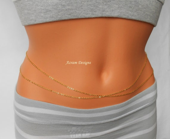 Jasmine Belly Chain Belly Chain Gold Belly Chain Layer