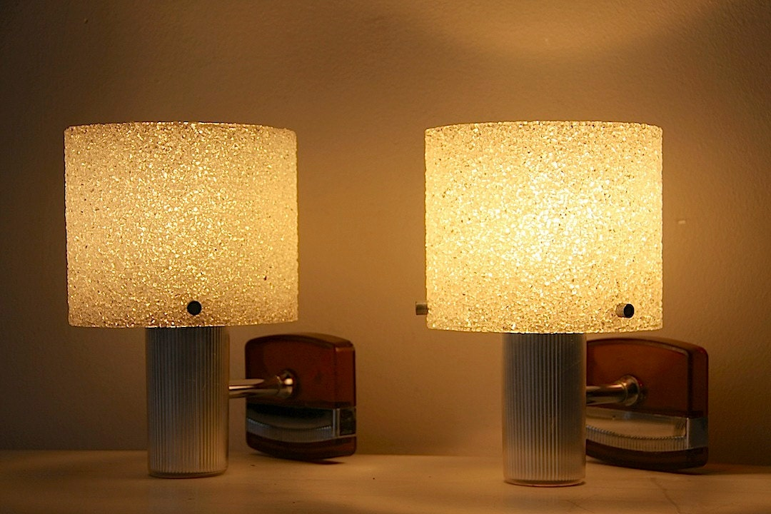 Wall Sconces Mid Century : Mid Century Modern Wall Lights Wall Sconces Set Of 2 Wall