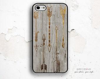 iPhone 6 Case Tribal Arrow, iPhone 5C Case, - iPhone 4 / 4s Case, iPhone 5 / 5s Case, Rustic Wood iPhone 6 Case Arrow :0835
