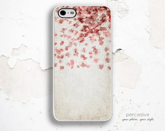 iPhone 6 Plus Case Pink Flower Tree - iPhone 5C Case, iPhone 4s Case, iPhone 6 Case, Watercolor iPhone 6 Plus Case Linen:0864